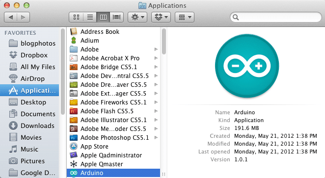 Mac install arduino