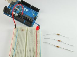 arduino with breadboard and leds