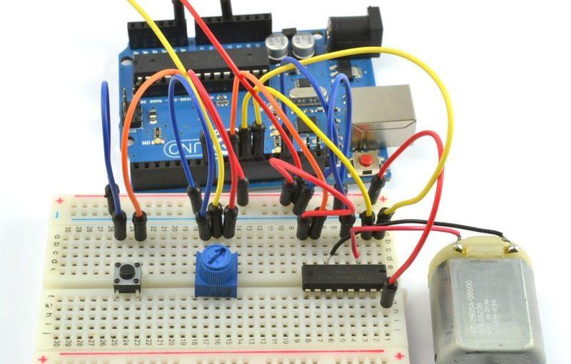 اردوينو – الدرس السادس عشر – التحكم باتجاه وسرعة دوران محرك DC Motor