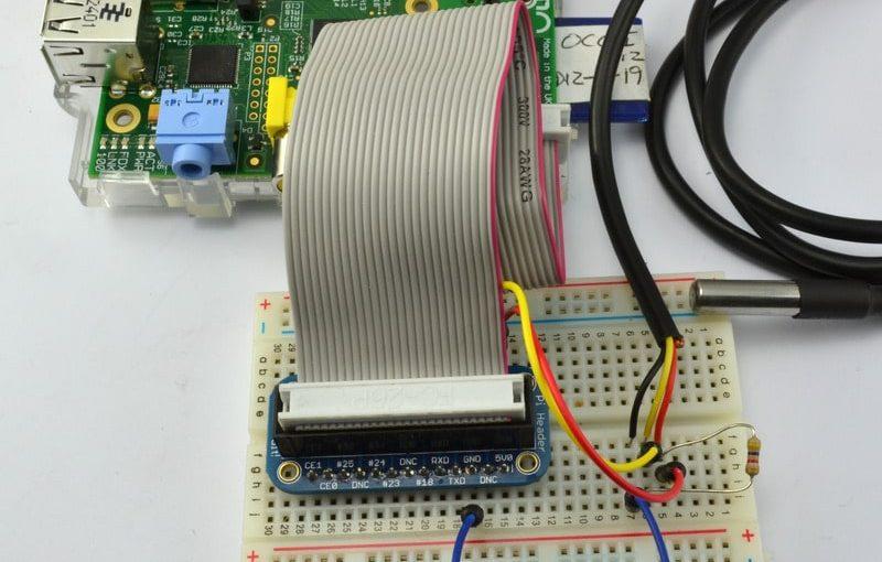 راسبيري باي -الدرس الحادي عشر- التحكم بحساس درجة الحرارة DS18B20