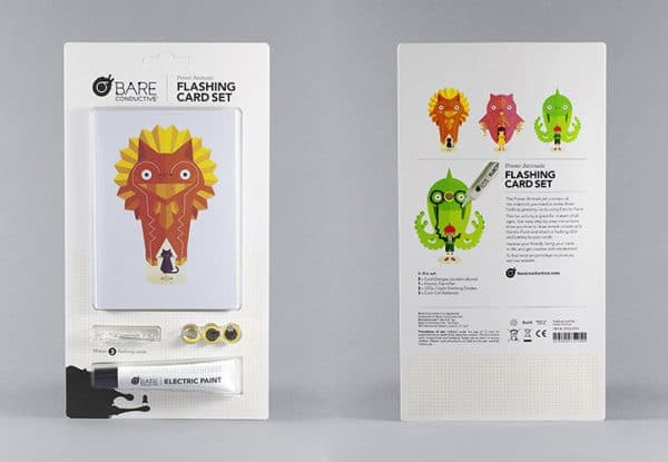 FLASHING CARD SET POWER ANIMALS