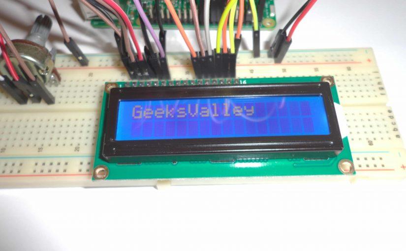 توصيل شاشة LCD 16×2 للراسبيري باي