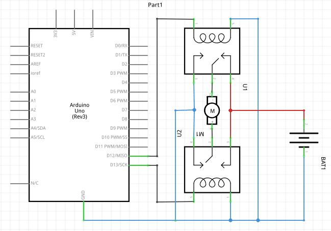 التحكم-فى-تشغيل-و-اتجاه-حركة-محرك-تيار-م