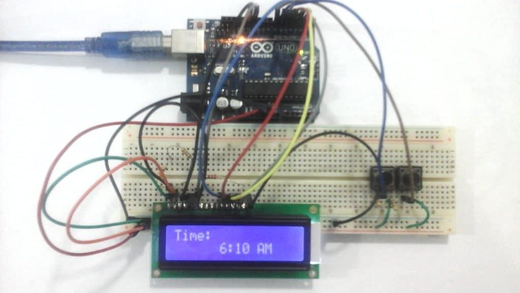 ساعة رقمية باستخدام الاردوينو