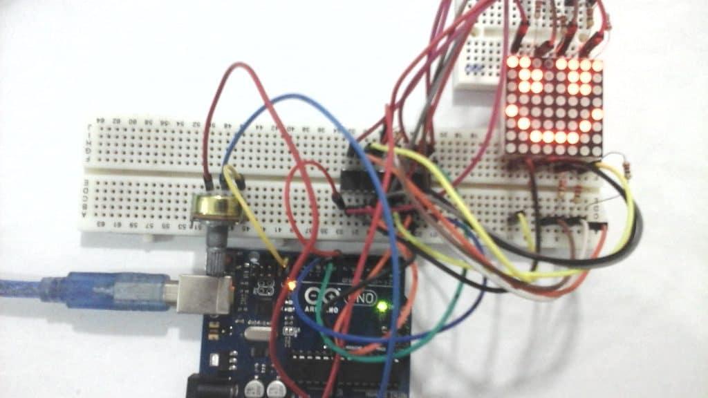 التحكم فى مصفوفة ليدات Led Matrix باستخدام الاردوينو