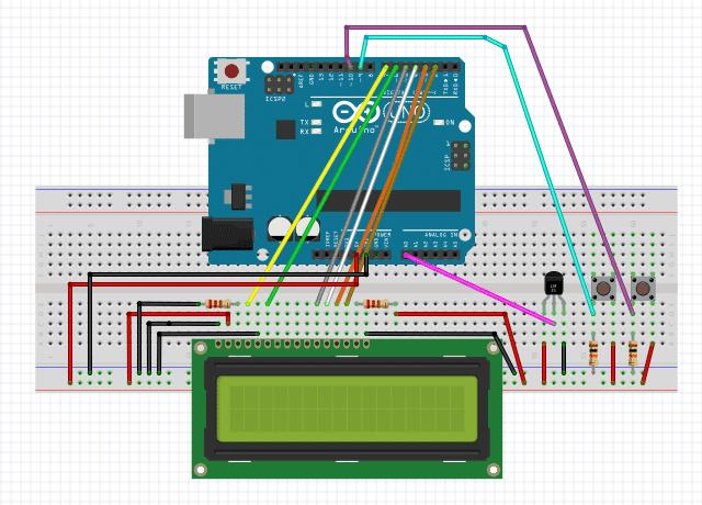 جهاز لقياس و التحكم فى درجة الحرارة باستخدام LM35