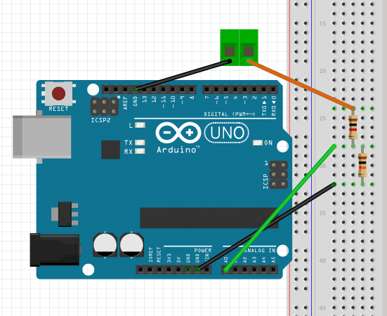 Voltameter: استخدام الاردوينو فى قياس الجهود الكهربية