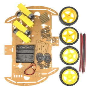 4WD Plastic Robot Chassis 6V DC